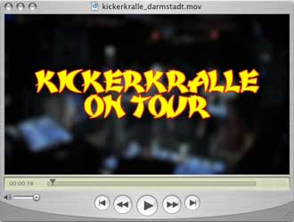 Kickerkralle on Tour